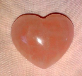 puffed rose quartz hearts (small)