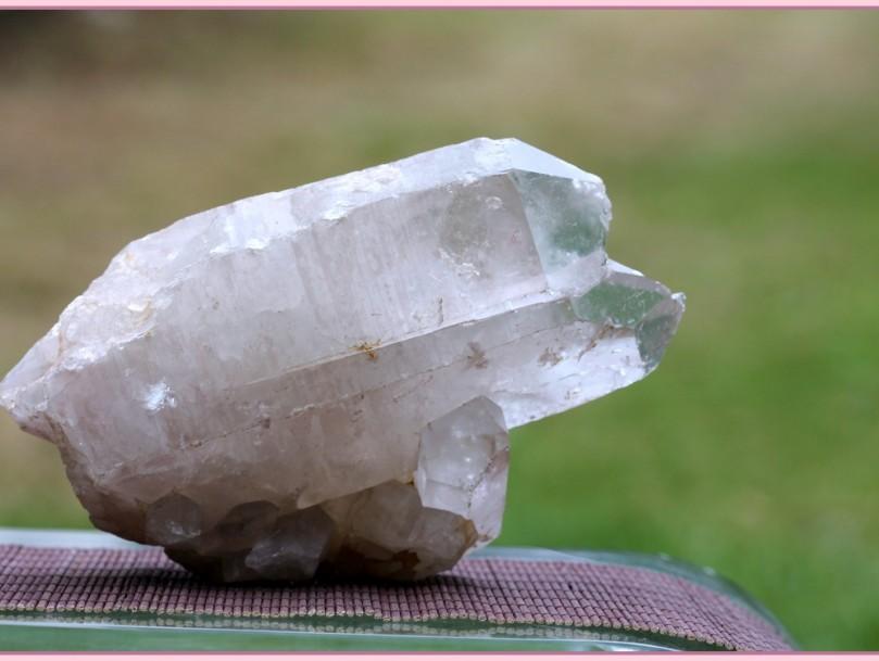 double growth cluster Brazilian quartz