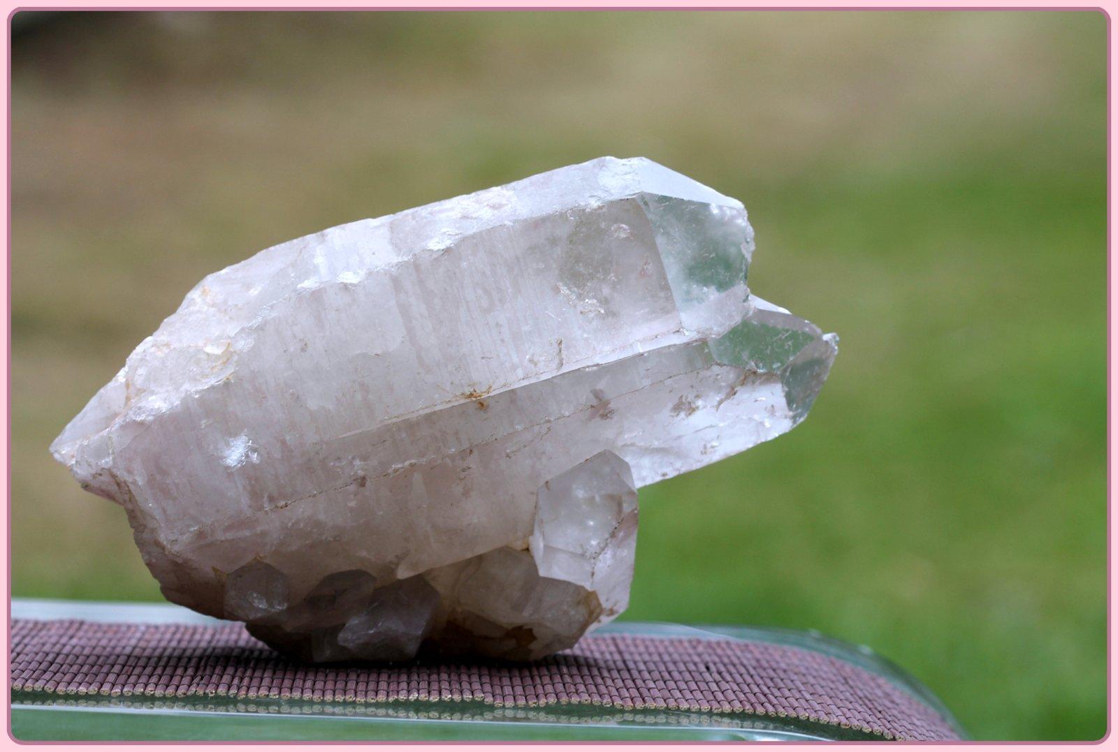 brazilian quartz double growth cluster