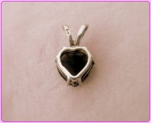 moldavite heart rear view