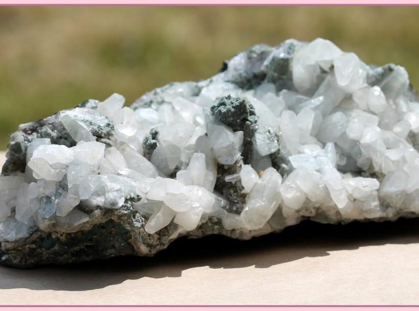 feldspar and calcite