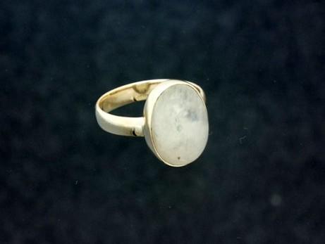 Moonstone Ring - 15mm x 10mm Oval Cut