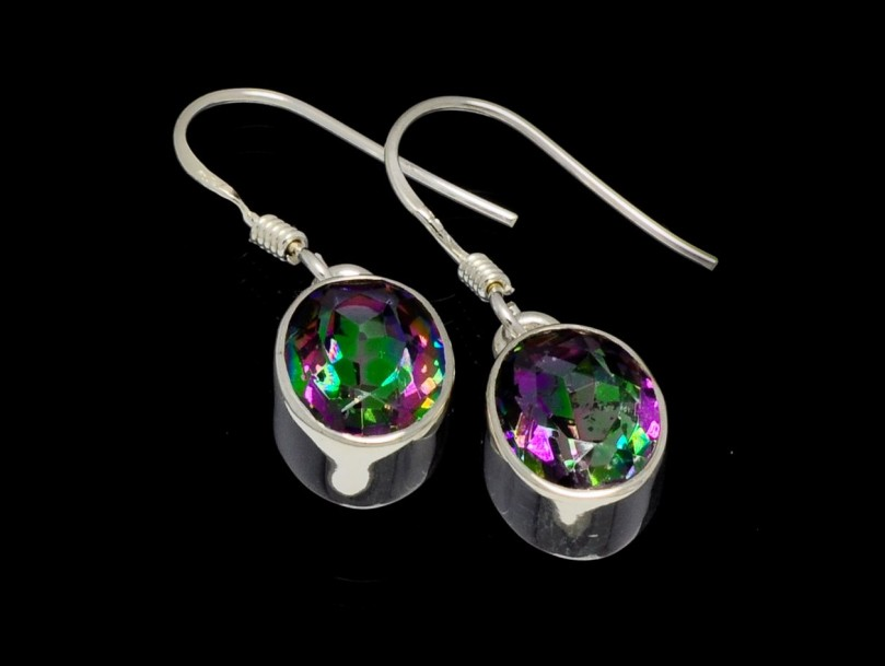 earrings - mystic topaz
