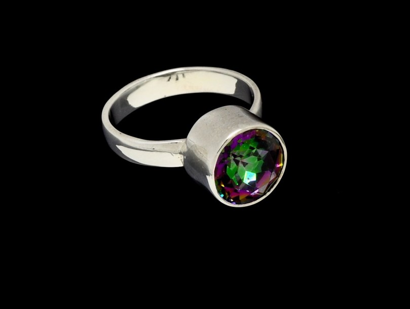Ring Mystic Topaz - 10mm Round Cut