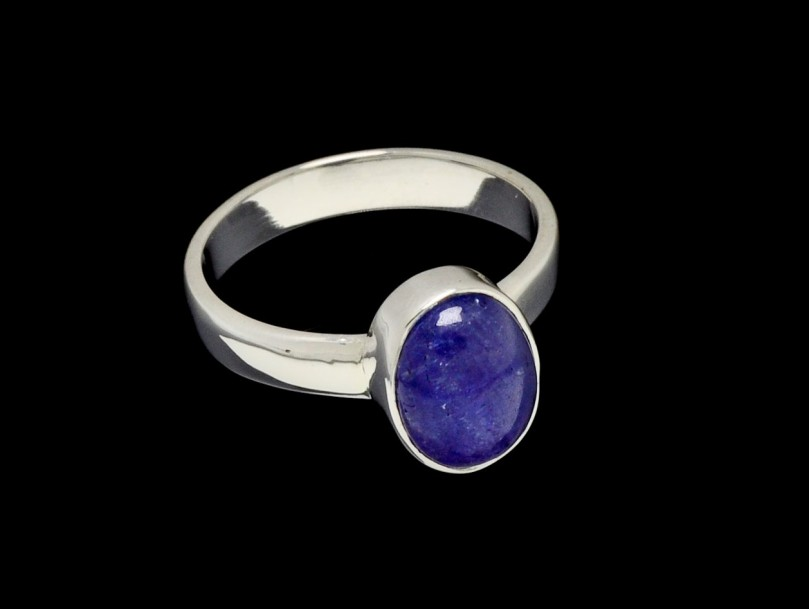 ring tanzanite  Oval Cut 10mm x 7mm