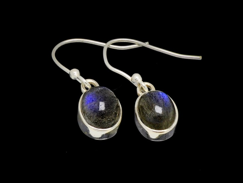 Earrings Labradorite 10mm x 7mm Oval Cut