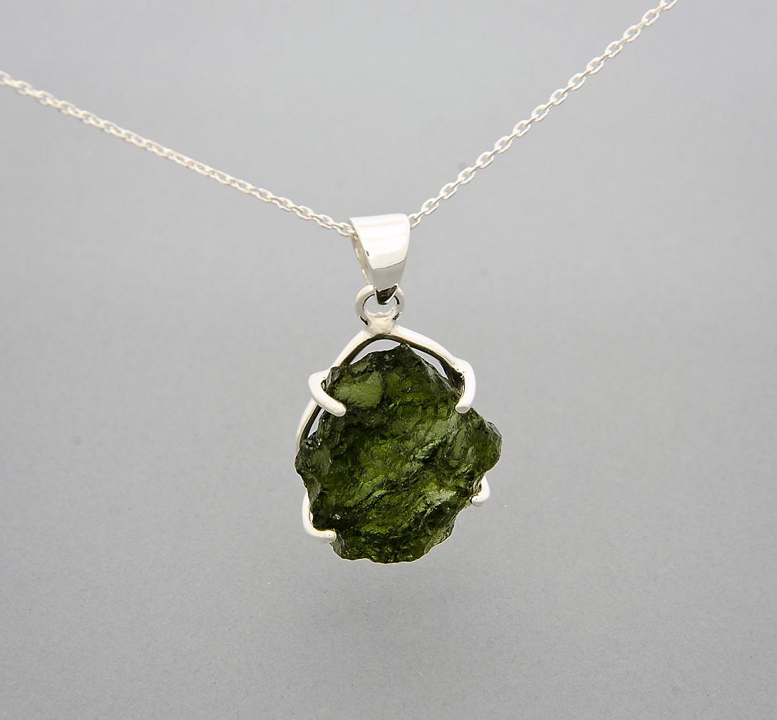 large moldavite pendant