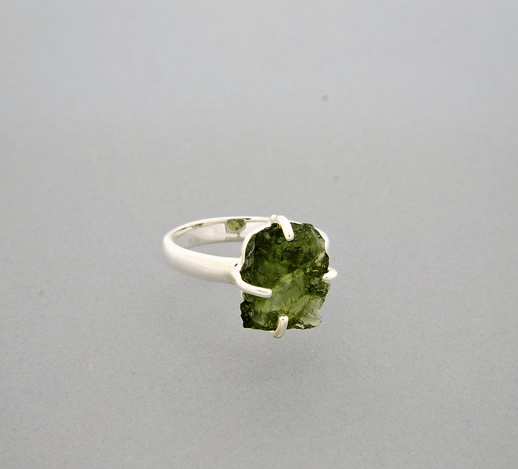 large moldavite ring