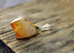 rough citrine pendant