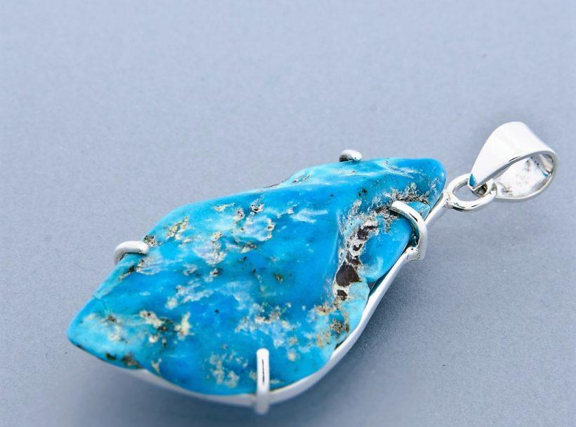 claw set turquoise pendant (large)